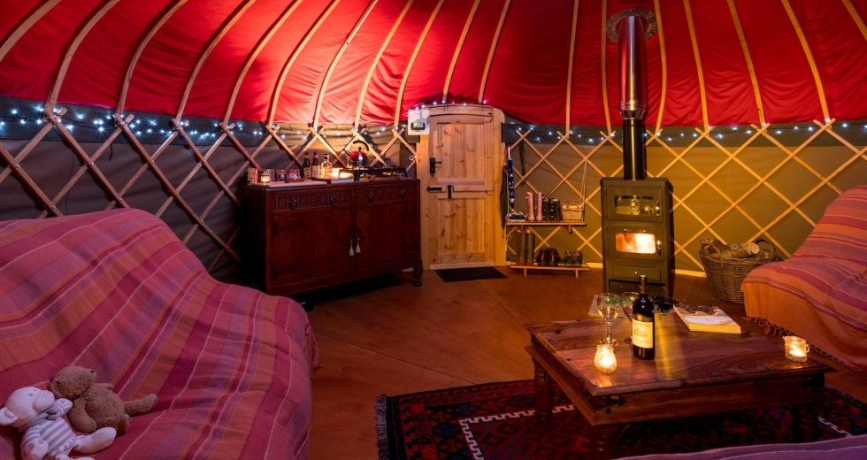 Glamping holidays in the Lake District, Cumbria, Northern England - Long Valley Yurts, Windermere