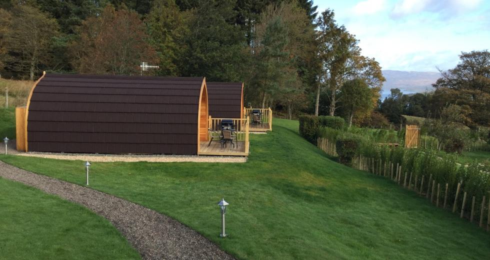 Glamping holidays in Loch Lomond, Southern Scotland - Stoneymollan Luxury Pods