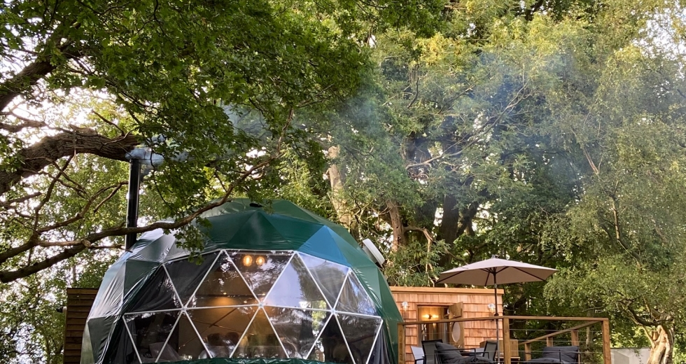 Glamping holidays in Kent, South East England - Luna Domes, Hoath House