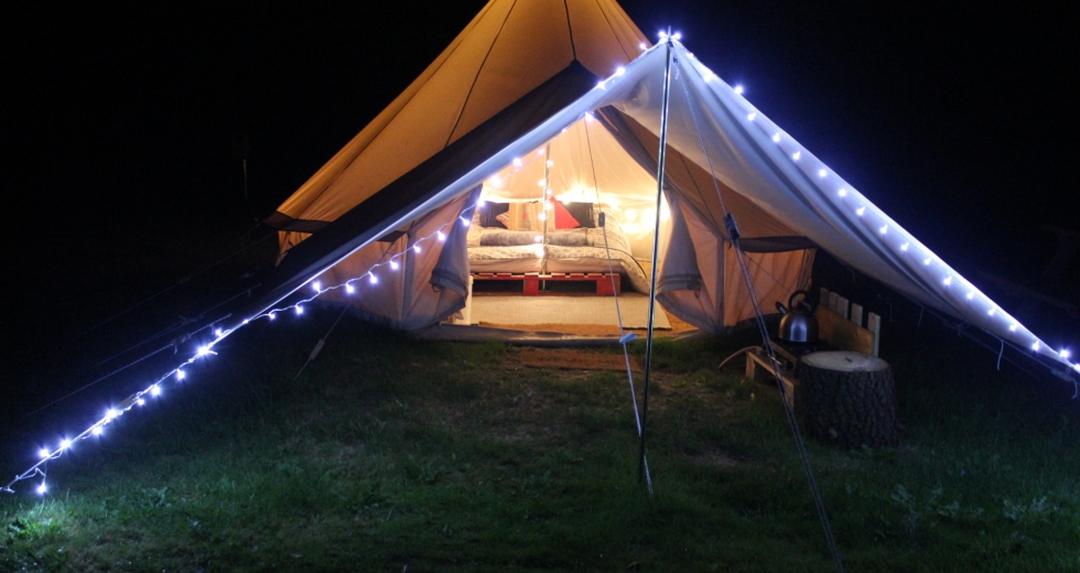 Glamping holidays in Shropshire, Central England - The Old School Campsite
