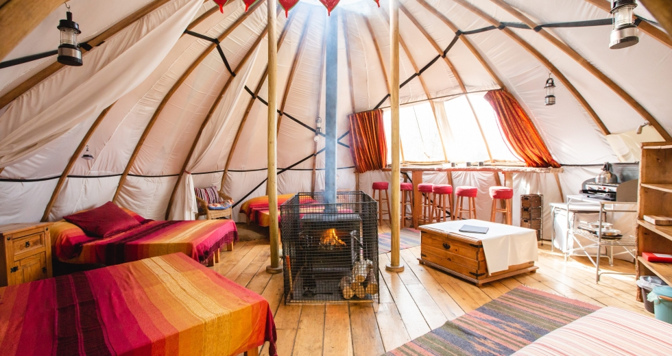 Glamping holidays in Carmarthenshire, South Wales - Larkhill Tipis & Yurts