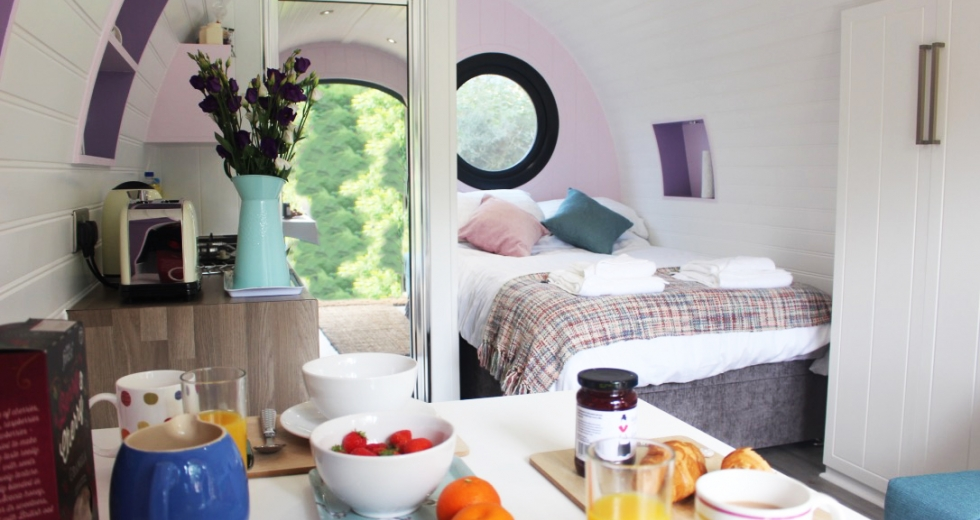 Glamping holidays in Carmarthenshire, South Wales - Riverside Pods