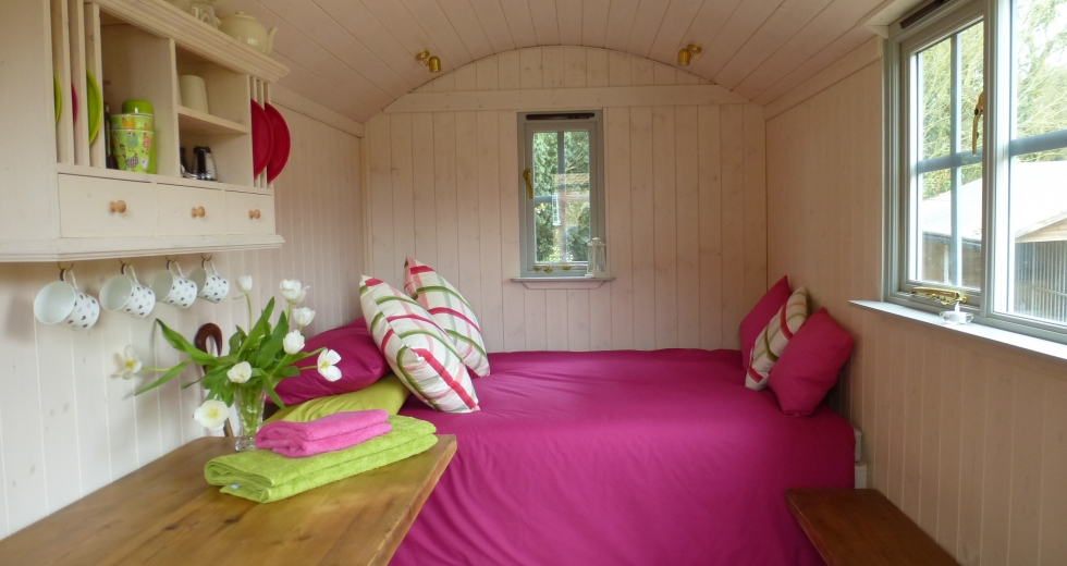 Glamping holidays in Norfolk, Eastern England - Muckleton Shepherds Hut
