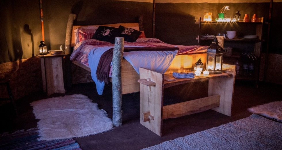 Glamping holidays in Devon, South West England - Grey Willow Yurts
