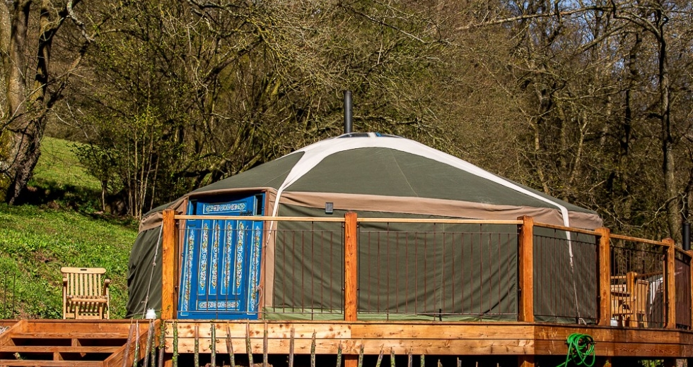 Glamping holidays in Monmouthshire, South Wales - Hidden Valley Yurts