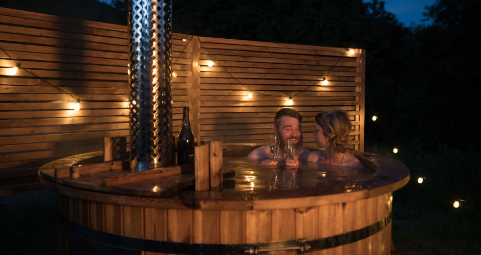 Glamping holidays in the Peak District, Derbyshire, Central England - Long Valley Yurts, Knotlow Farm