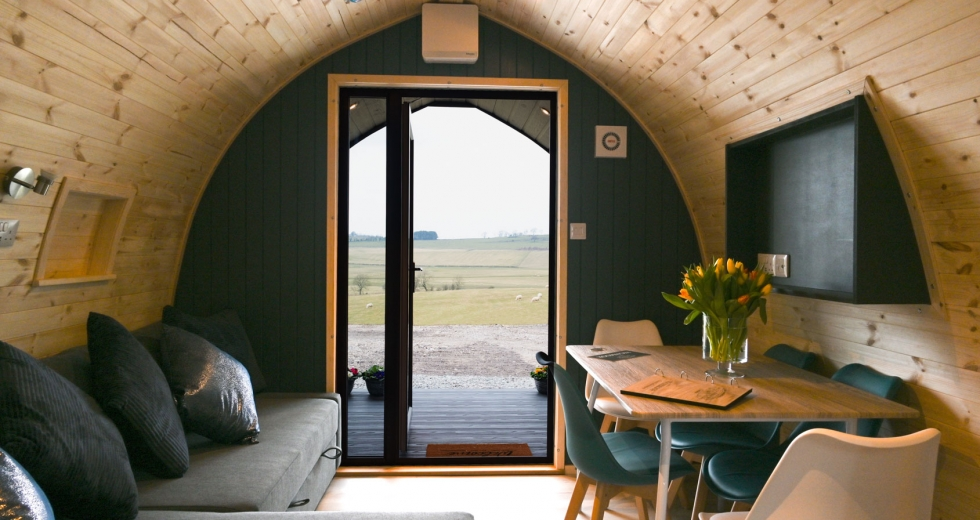 Glamping holidays near the Lake District, Cumbria, Northern England - Castle Guards Farm Retreat