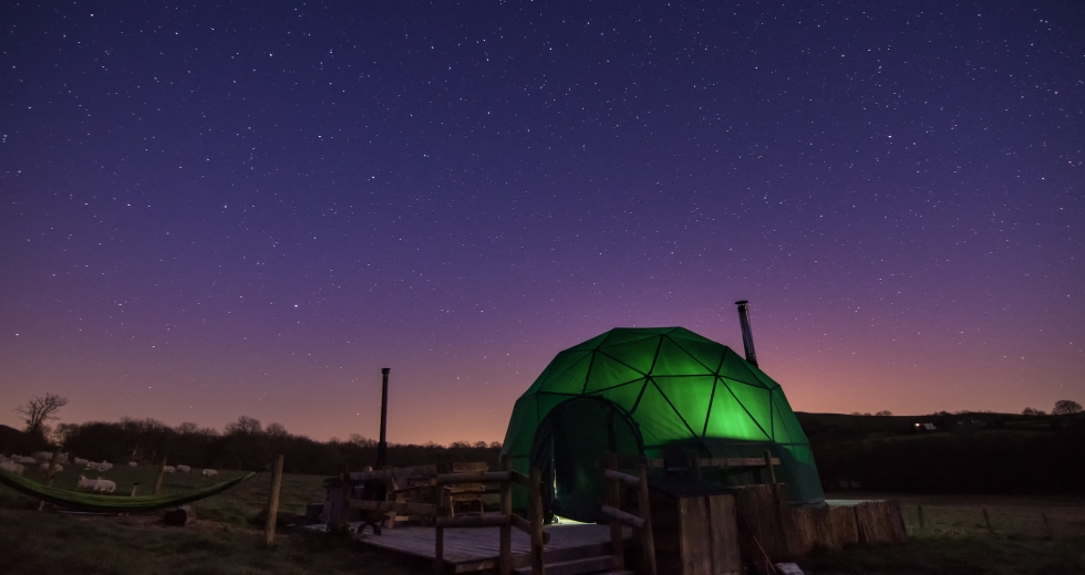 Glamping holidays near Hay-on-Wye, Mid Wales - Cosy Under Canvas