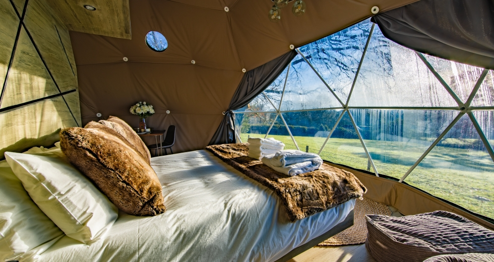 Glamping holidays in Kent, South East England - Eutierria Domes, Hoath House