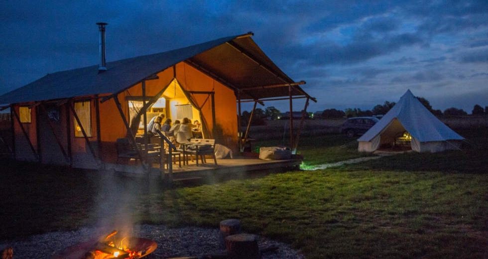 Glamping holidays in Kent, South East England - Wheatfields Luxury Glamping