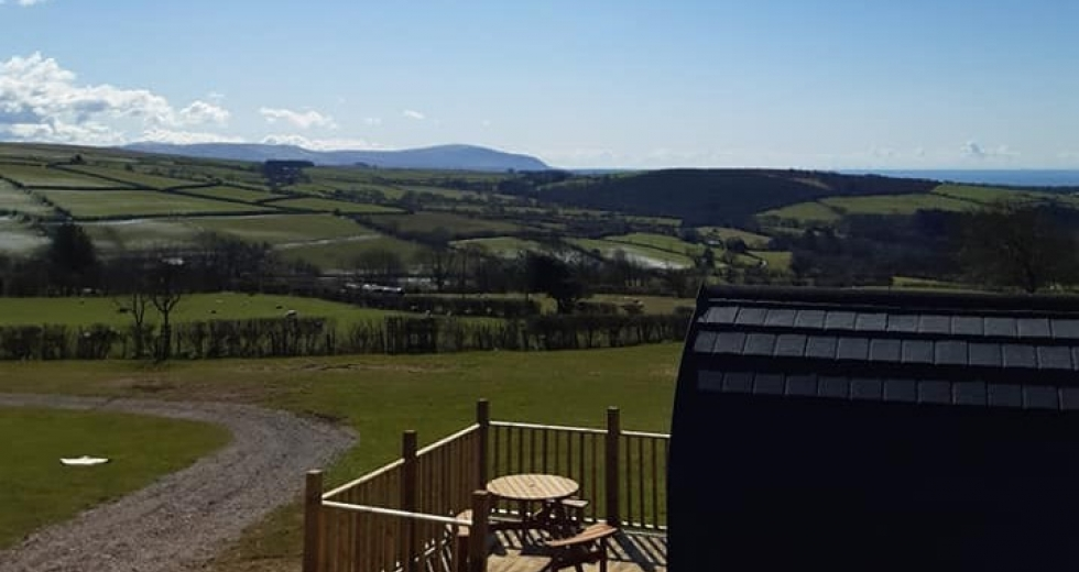 Glamping holidays in the Lake District, Cumbria, Northern England - Strudda Bank Pod Paddock