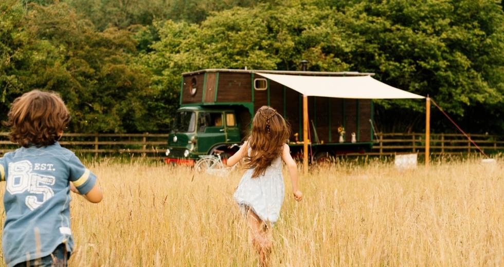 Glamping holidays in Northumberland, Northern England - Horsebox Hideaways