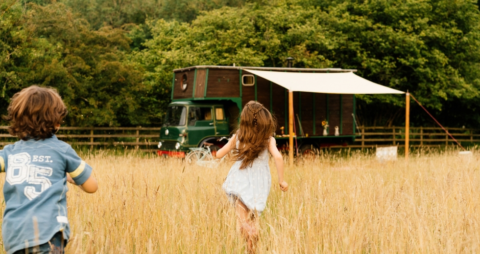 Glamping holidays in Northumberland, Northern England - Horsebox Hideaways
