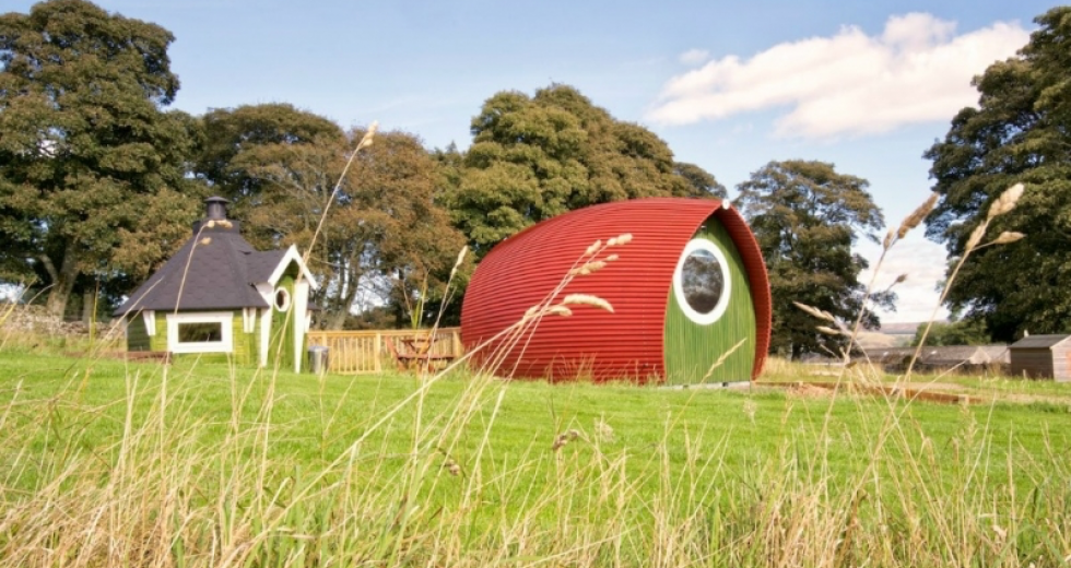 Glamping holidays in Scottish Borders, Southern Scotland - The Rowan Pod
