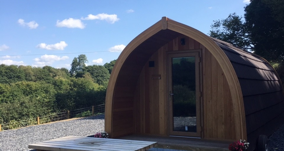 Glamping holidays in Powys, Mid Wales - Cil y Coed Luxury Pod
