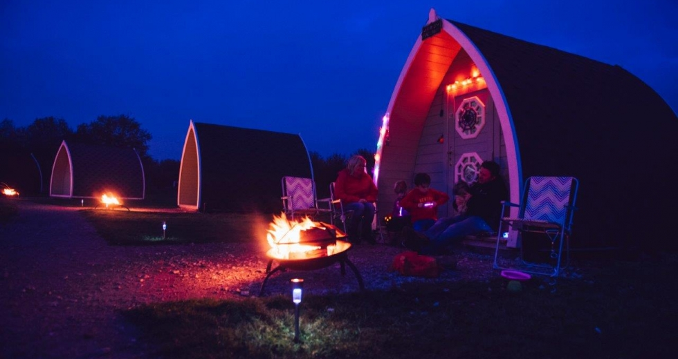 Glamping holidays near Blackpool in Lancashire, Northern England - Stanley Villa Farm Camping