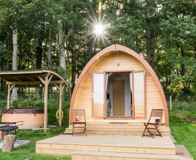 Glamping holidays near the Lake District, Cumbria, Northern England - Thornfield Camping Cabins
