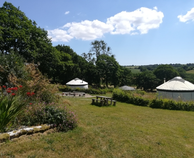 Glamping holidays in Carmarthenshire, South Wales - Fron Farm Yurt Retreat