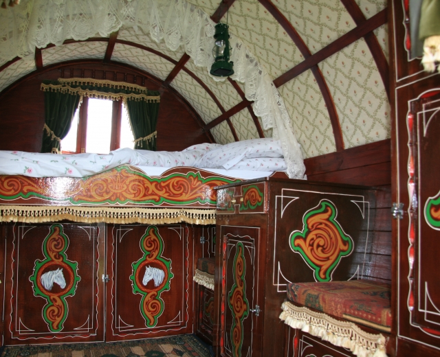Glamping holidays in Somerset, South West England - Gypsy Caravan Breaks