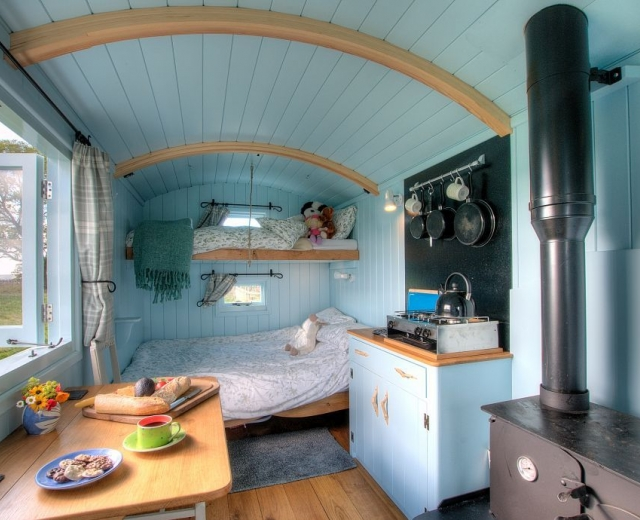 Glamping holidays in the Peak District, Staffordshire, Central England - Lowes Farm