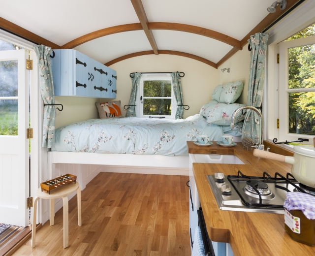 Glamping holidays in Kent, South East England - Clavertye Shepherds Huts