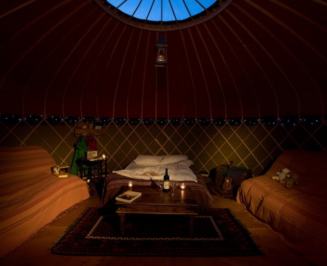 Glamping holidays in the Lake District, Cumbria, Northern England - Long Valley Yurts, Sykeside