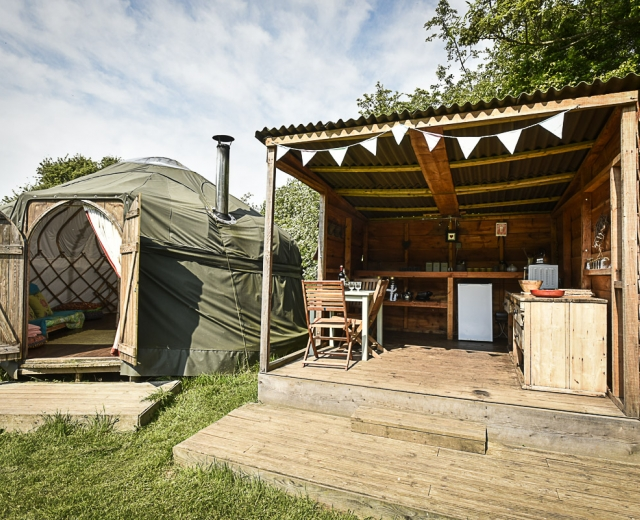 Glamping holidays near the Lake District, Cumbria, Northern England - Drybeck Farm