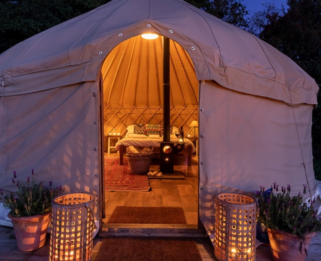 Glamping holidays in North Yorkshire, Northern England - Yurtshire Fountains