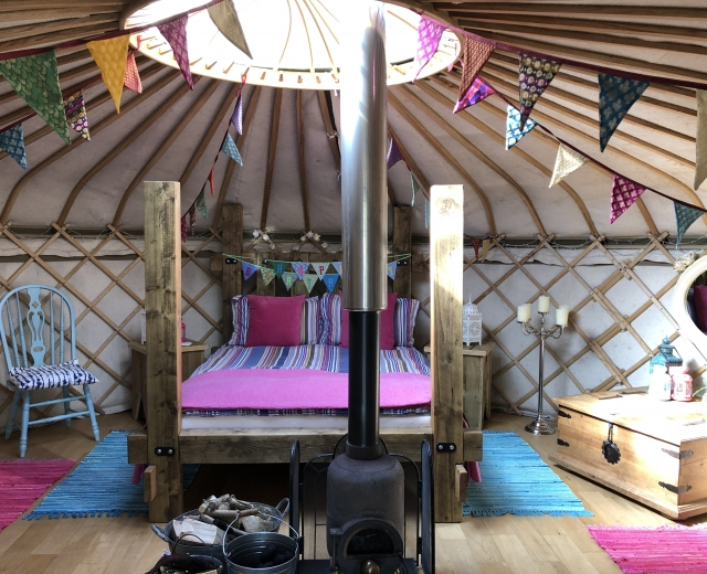 Glamping holidays in Powys, Mid Wales - The Secret Yurts