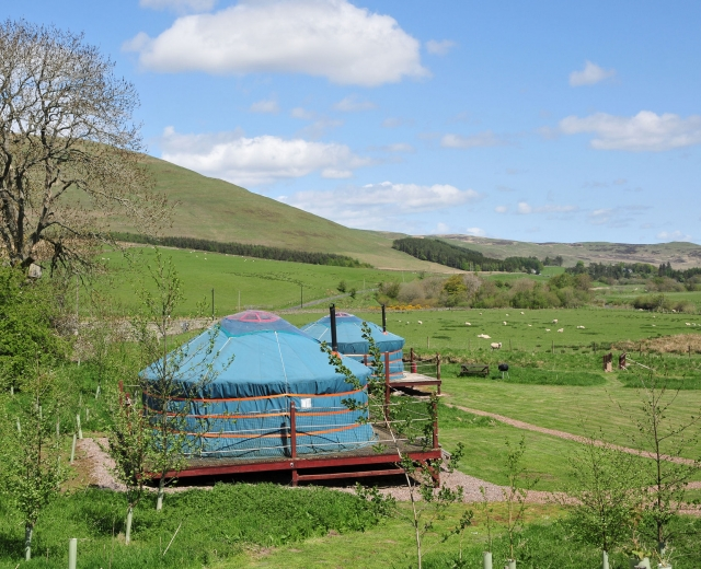 Glamping holidays in the Scottish Borders, Scotland - Ettrick Valley Yurts