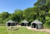 Glamping holidays in Dorset, South West England - Stock Gaylard Estate